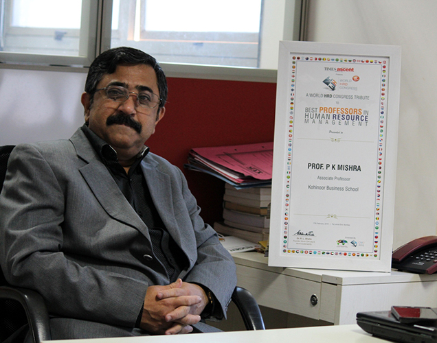 Best Professor in HRM Award by World HRD Congress – Times Ascent