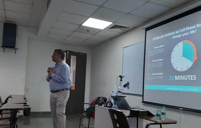 KBS Dayitva Cell organised a talk by Guest Mr. Janak Shukla, on Effects of Cell Phone Radiation and its Prevention -  KBS