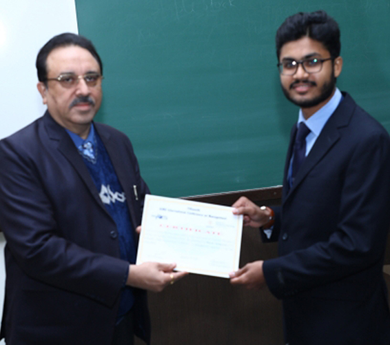 KBS student appreciated at the research forum