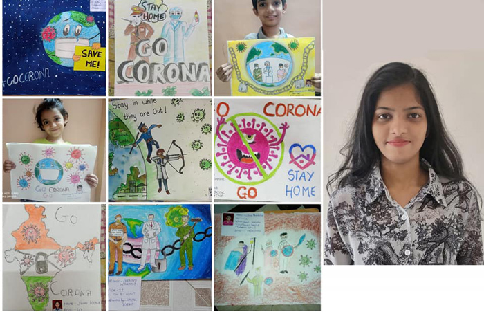 KBS Students Organised a Virtual Doodling Competition for the Children in their Locality -  KBS